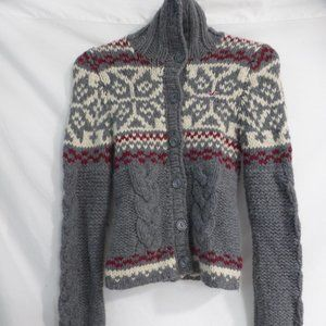 HOLLISTER, knit button up cardigan w/collar, xs-s